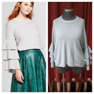 ➕Tiered Bell-Sleeve Sweater➕